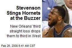 Stevenson Stings Hornets at the Buzzer