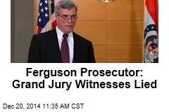 Ferguson Prosecutor: Grand Jury Witnesses Lied