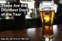 Poll Shows Drunkest Days of the Year