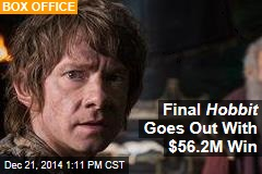 Final Hobbit Goes Out With $56.2M Win