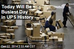 UPS Has Record 34M Packages to Deliver Today