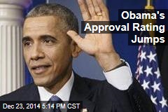 Obama's Approval Rating Jumps