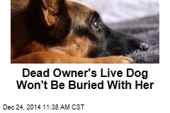Dead Owner's Live Dog Won't Be Buried With Her