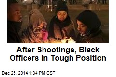 After Shootings, Black Officers in Tough Position
