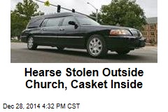 Hearse Stolen Outside Church, Casket Inside