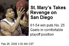 St. Mary's Takes Revenge on San Diego