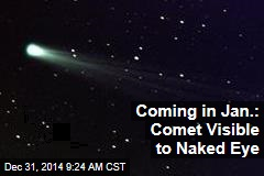 Coming in Jan.: Comet Visible to Naked Eye