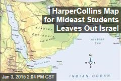 HarperCollins Map for Mideast Students Leaves Out Israel