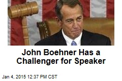 John Boehner Has a Challenger for Speaker