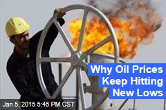Why Oil Prices Keep Hitting New Lows