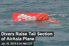Divers Raise Tail Section of AirAsia Plane