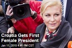 Croatia Gets First Female President