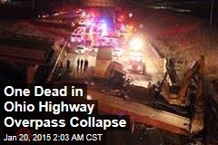 Ohio Highway Overpass Collapses, Kills Worker