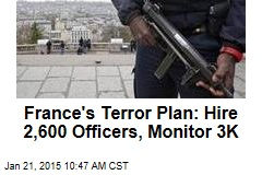 France's Terror Plan: Hire 2,600 Officers, Monitor 3K