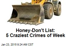 Honey-Don't List: 5 Craziest Crimes of Week