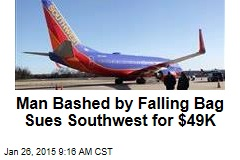 Man Bashed by Falling Bag Sues Southwest for $49K