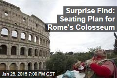 Surprise Find: Seating Plan for Rome's Colosseum