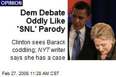 Dem Debate Oddly Like 'SNL' Parody