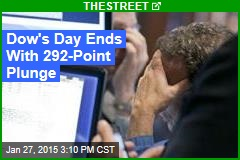 Dow's Day Ends With 292-Point Plunge