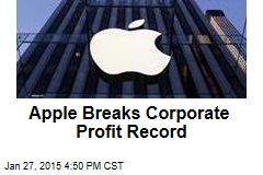 Apple Breaks Corporate Profit Record