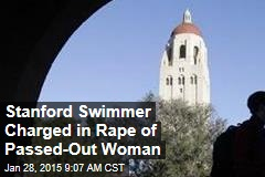 Stanford Swimmer Charged in Rape of Passed-Out Woman