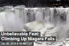 Unbelievable Feat: Climbing Up Niagara Falls