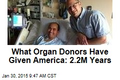 What Organ Donors Have Given America: 2.2M Years