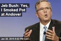 Jeb Bush: Yes, I Smoked Pot at Andover