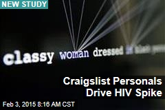Craigslist Personals Drive HIV Spike