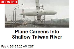 Plane Crashes Into Taiwan River