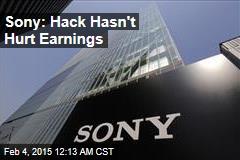 Sony: Hack Hasn't Hurt Earnings