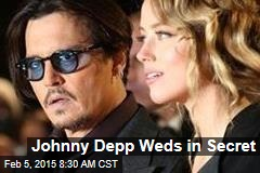 Johnny Depp Weds in Secret