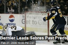 Bernier Leads Sabres Past Preds