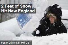 2 Feet of Snow Hits New England