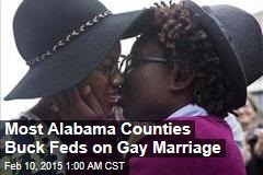 Most Alabama Counties Buck Feds on Gay Marriage