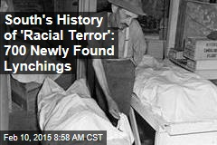 South's History of 'Racial Terror': Newly Found 700 Lynchings