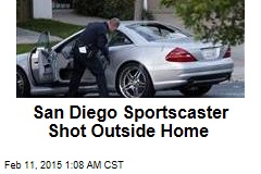 San Diego Sportscaster Shot Outside Home