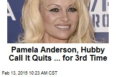 Pamela Anderson, Hubby Call It Quits ... for 3rd Time