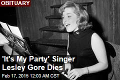 'It's My Party' Singer Lesley Gore Dies