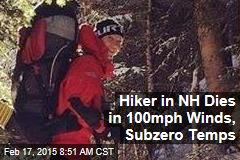 Hiker in NH Dies in 100mph Winds, Subzero Temps