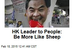 HK Leader to People: Be More Like Sheep