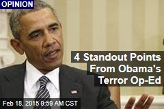 4 Standout Points From Obama's Terror Op-Ed