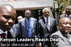 Kenyan Leaders Reach Deal