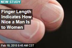 Finger Length Indicates How Nice a Man Is to Women