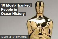 10 Most-Thanked People in Oscar History