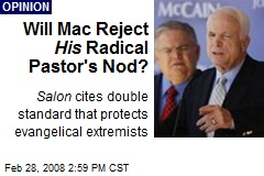 Will Mac Reject His Radical Pastor's Nod?
