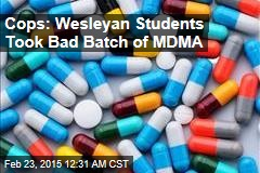 Cops: Bad Batch of MDMA Sent 11 Students to Hospital