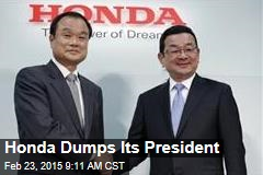 Amid Airbag Scandal, Honda Dumps Its President