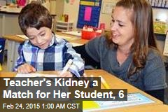 1st-Grade Teacher Donates Kidney to Student