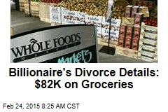 Billionaire's Divorce Details: $82K on Groceries
